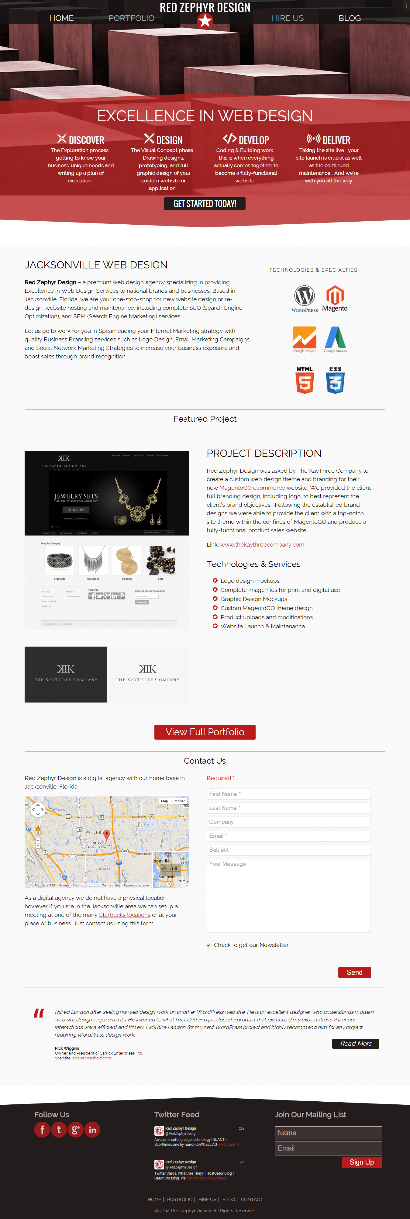 Red Zephyr Design Website Screenshot