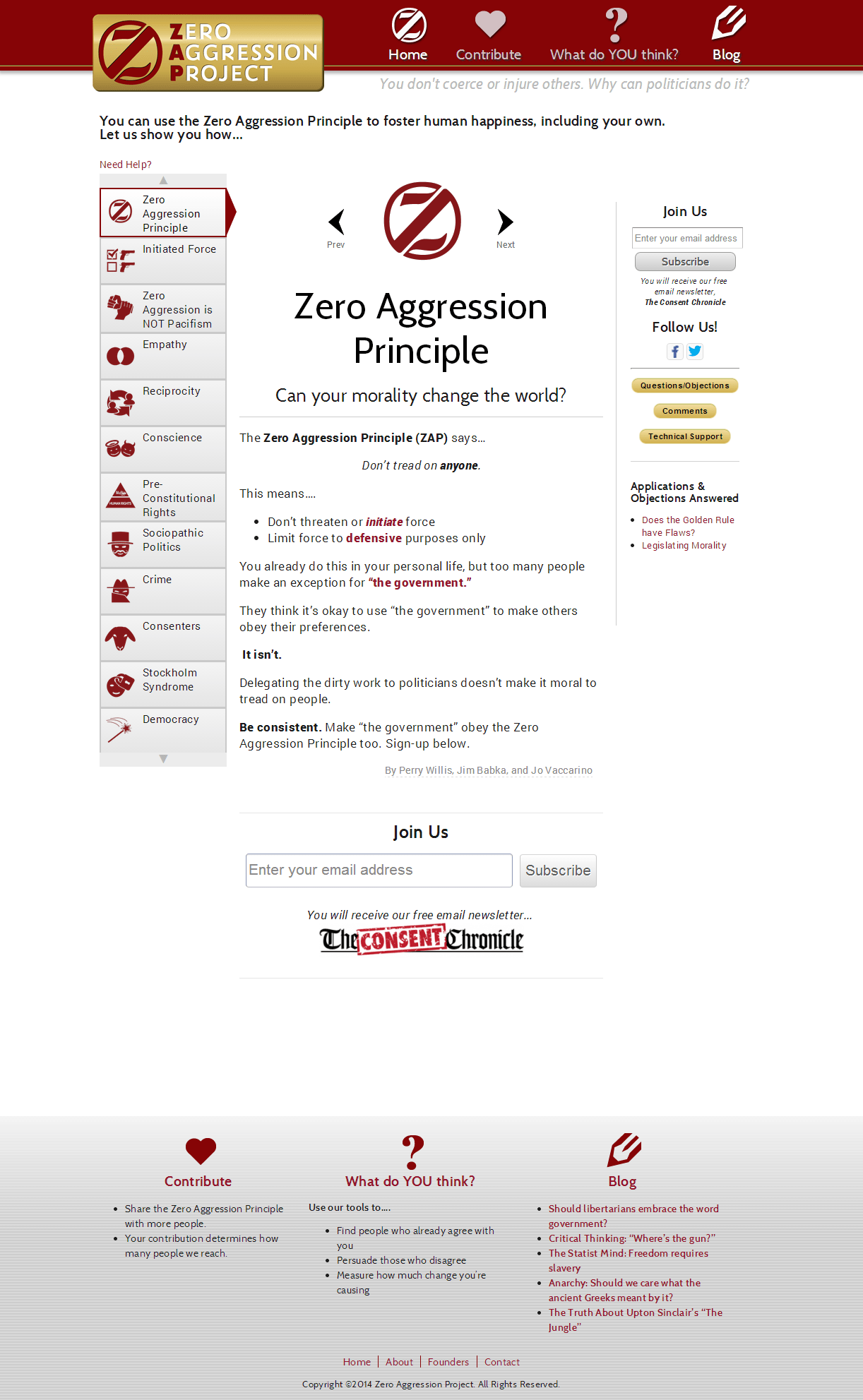 Zero Aggression Project Screenshot